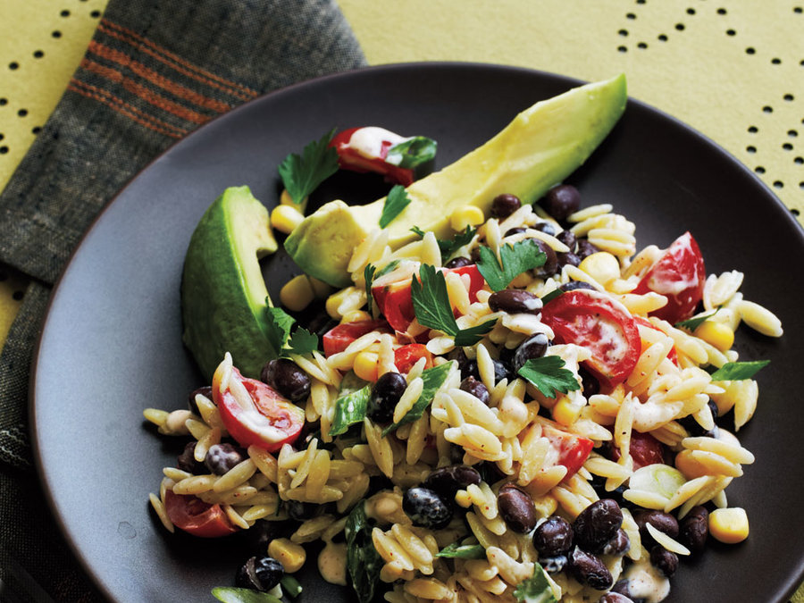 Orzo Salad with Spicy Buttermilk Dressing Recipe