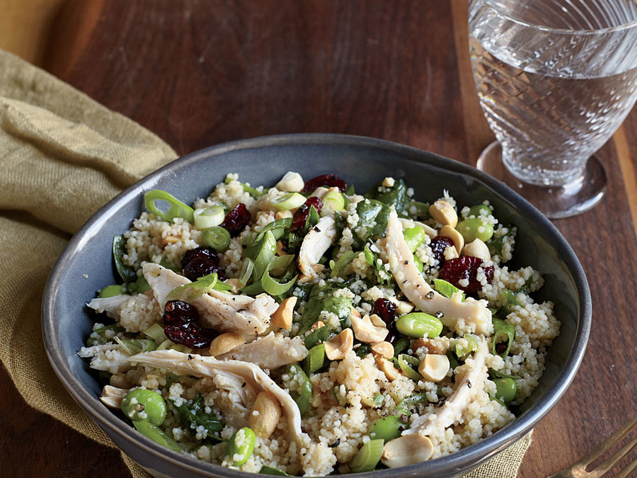 Chicken and Edamame Couscous Salad
