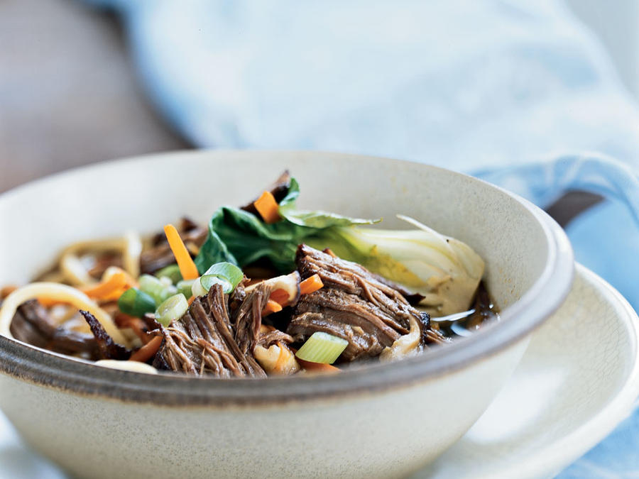 chinese style stove top pot roast with noodles