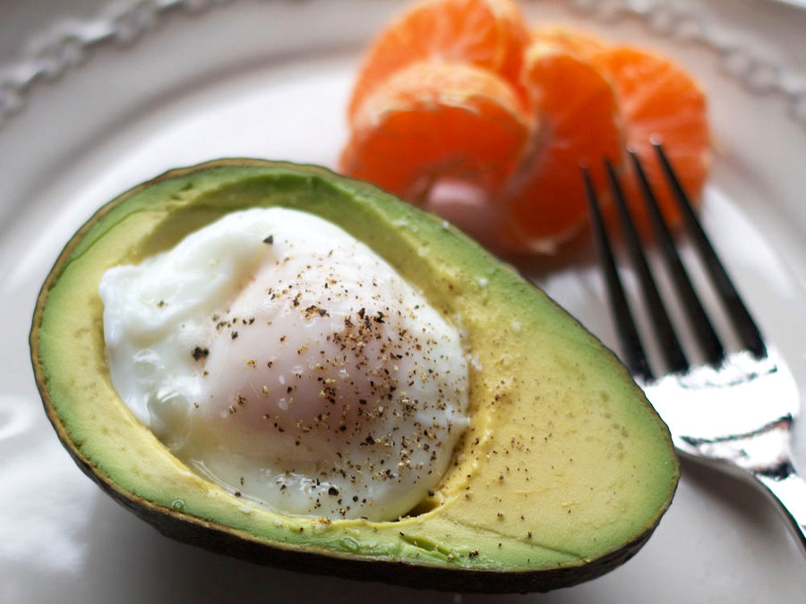 Poached Egg in an Avocado - Clean Eating Breakfast and Brunch ...