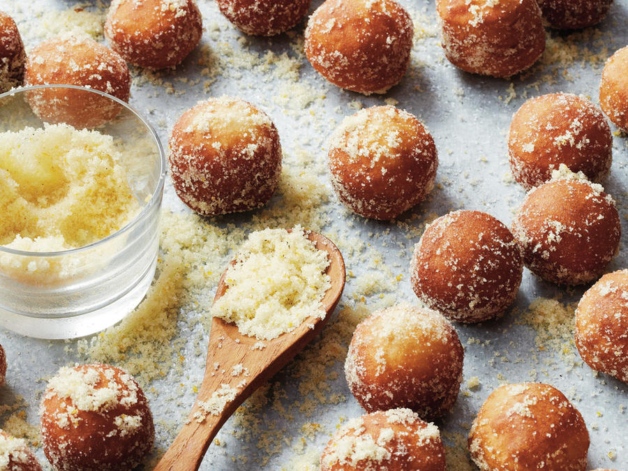 Orange and Cinnamon-Dusted Donut Holes
