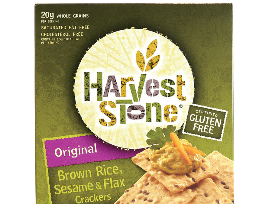 Harvest Stone Brown Rice, Sesame, and Flax Crackers in Original