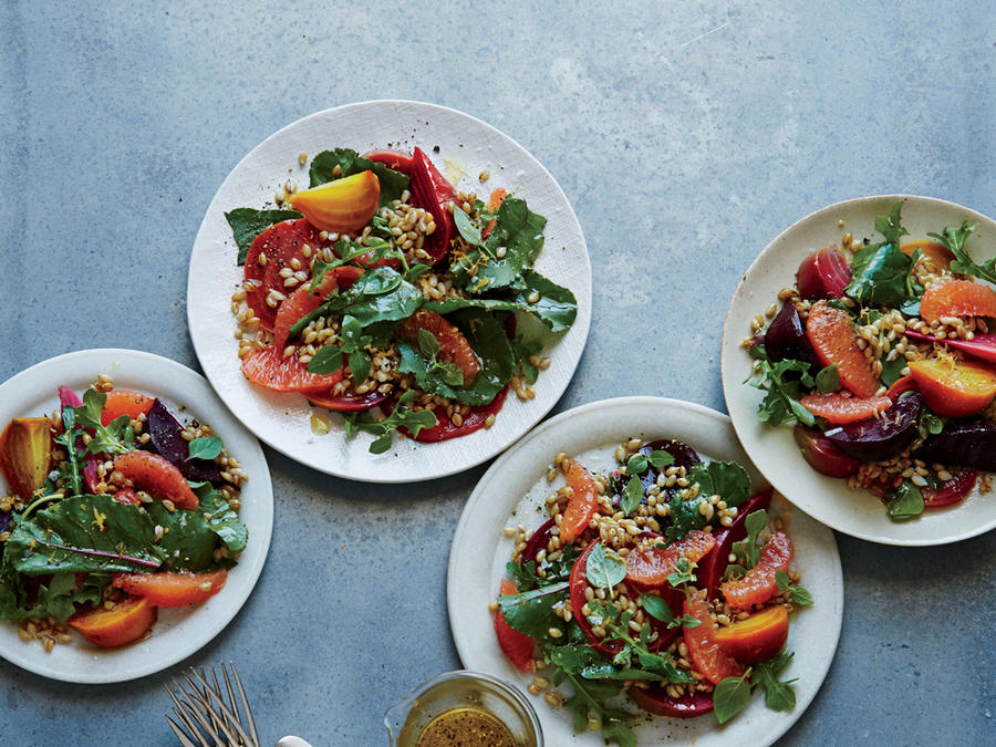Smoked Barley, Beet and Grapefruit Salad