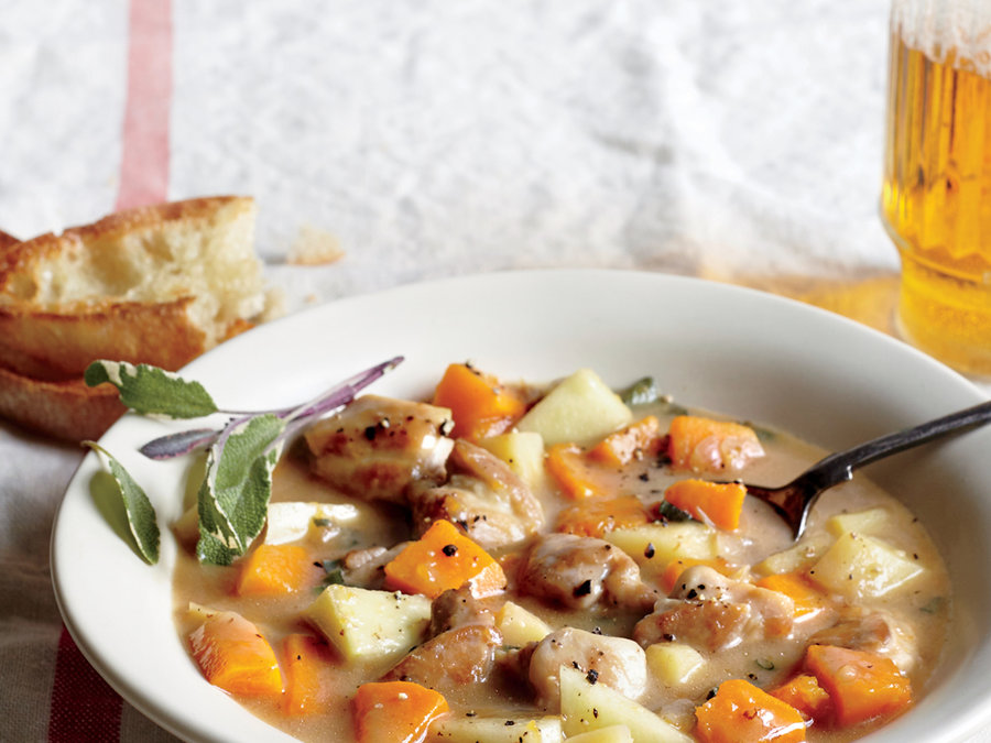 Chicken, Apple, and Butternut Stew