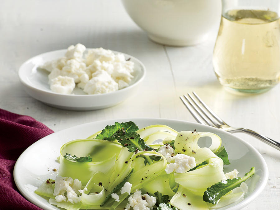 Shaved Broccoli Stalk Salad with Lime