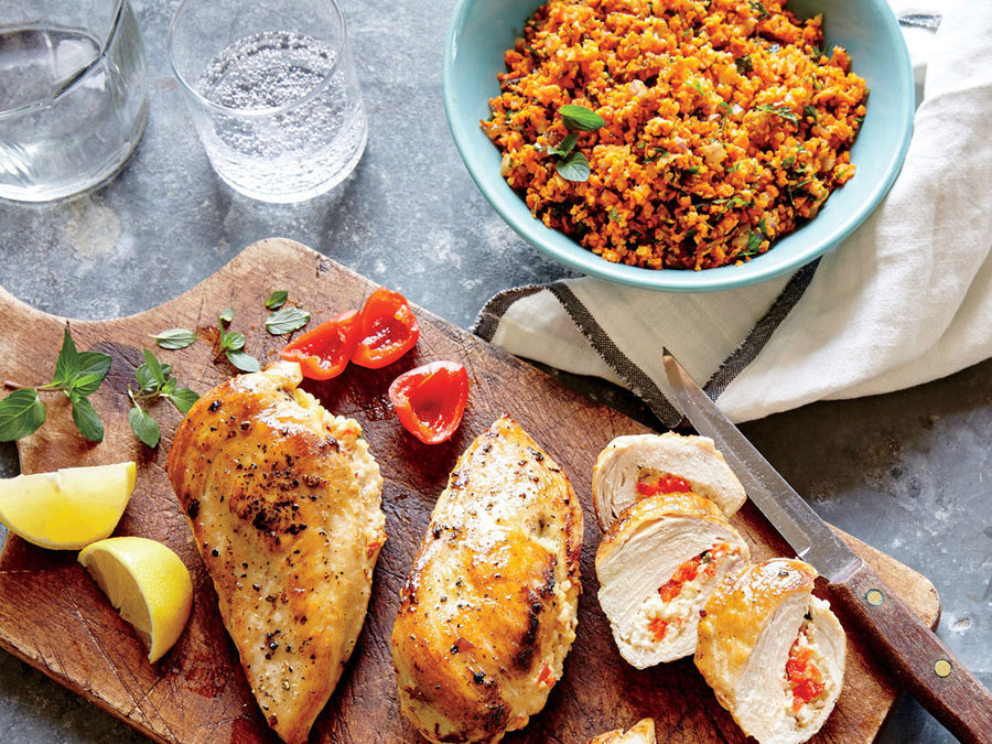 Basil, Feta, and Quinoa Stuffed Chicken Breasts - Dinner ...