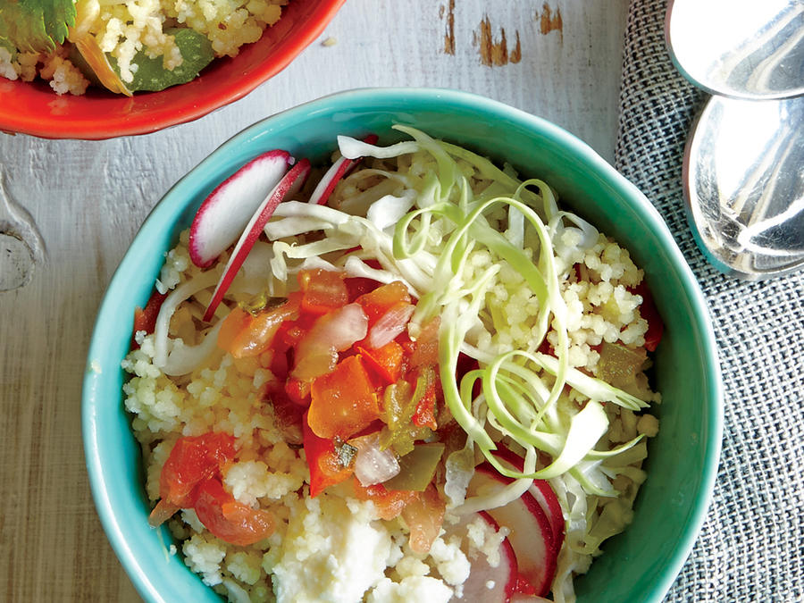 Cabbage and Radish Couscous