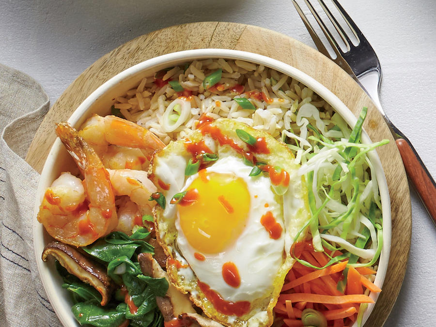 Korean Shrimp BBQ Bowl