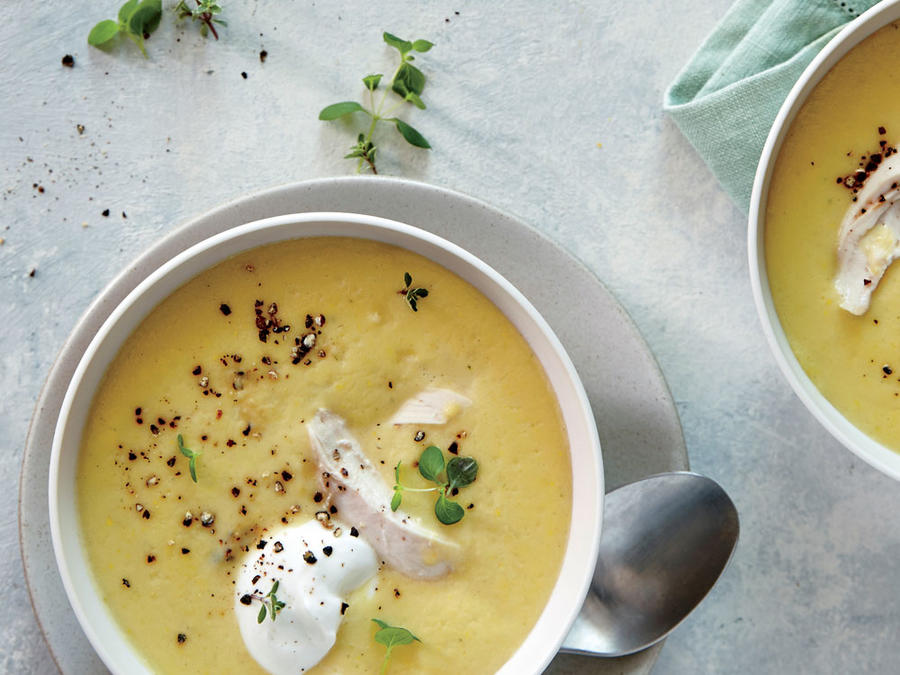 Summer Squash and Chicken Chowder
