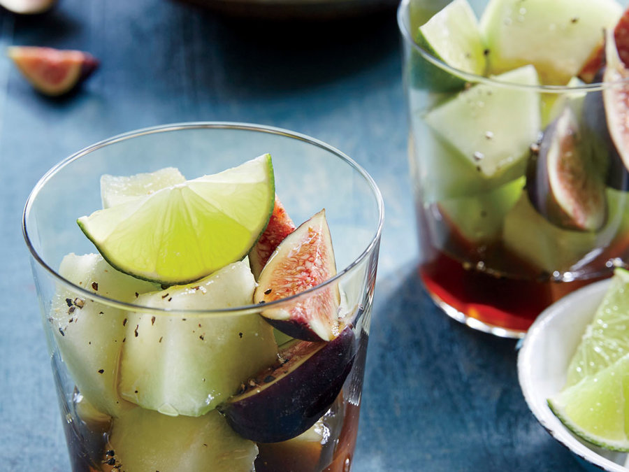 Summer Melon with Lime and Rum