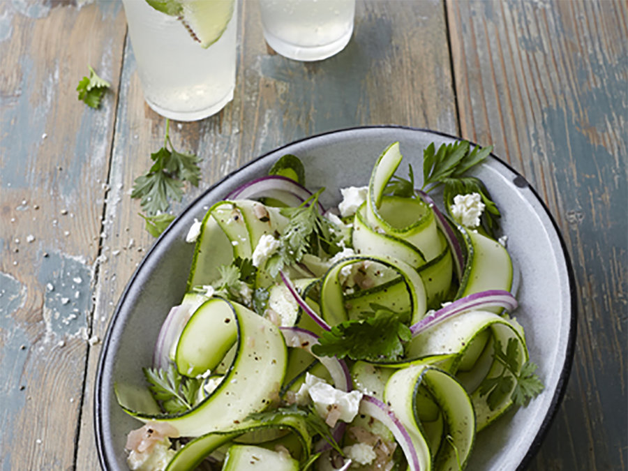 Shaved Zucchini and Parsley Salad