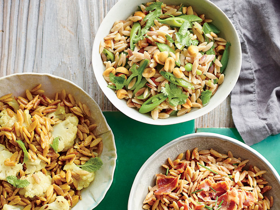 Orzo With Mint And Peas Recipe — Dishmaps