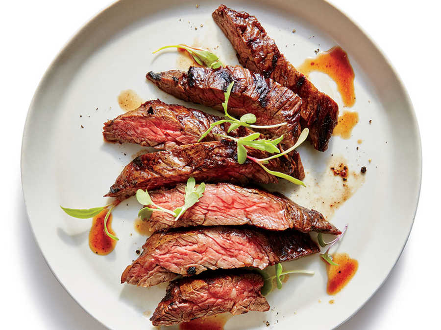 Grilled Flash-Marinated Skirt Steak Recipe - Cooking Light