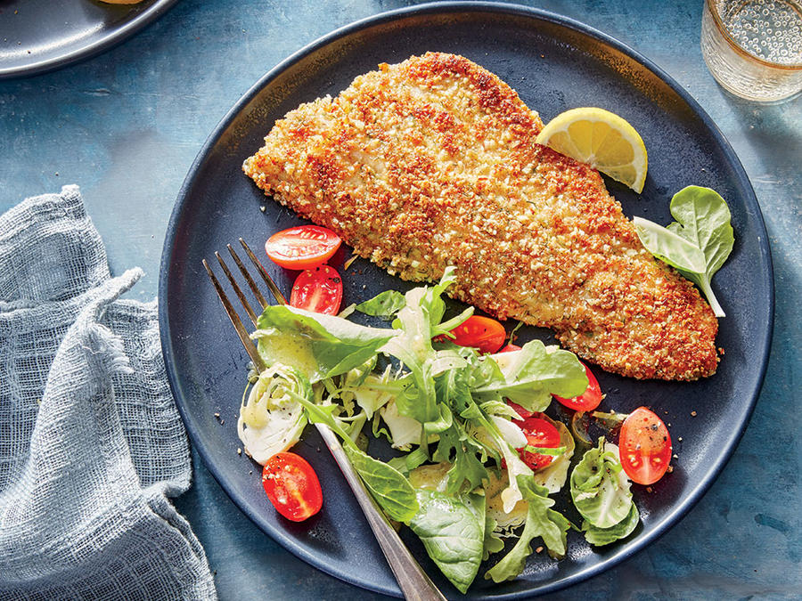 Almond-Crusted Trout with Dill