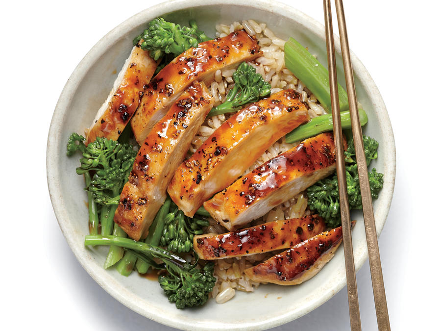 Asian Lemon Chicken Teriyaki Rice Bowl 60 Healthy