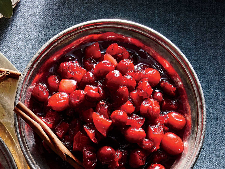 Spiced Apple-Cranberry Sauce