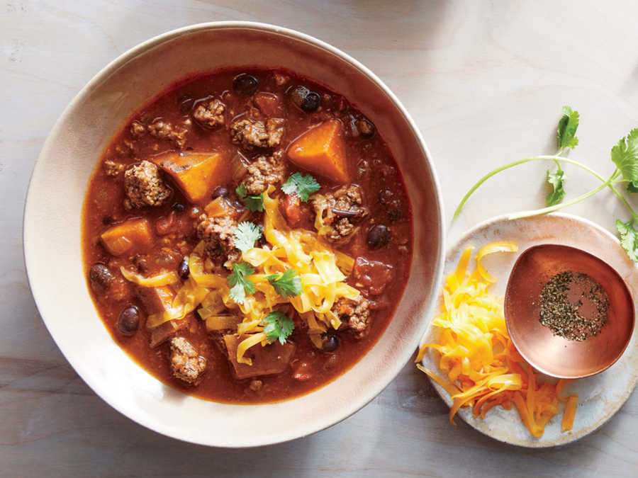 Slow Cooker Beef-and-Sweet Potato Chili