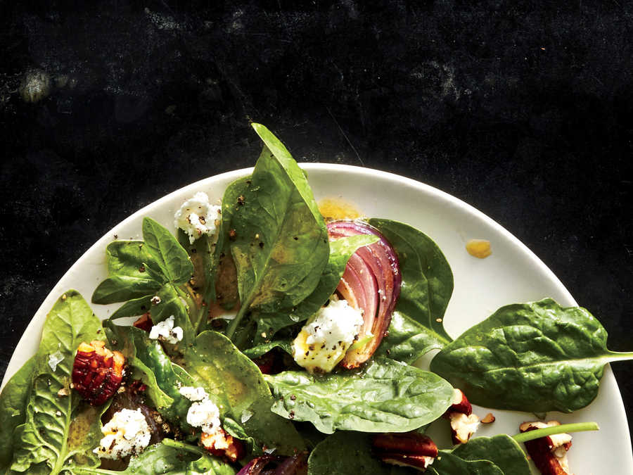 Spinach Salad with Smoked Pecan Vinaigrette