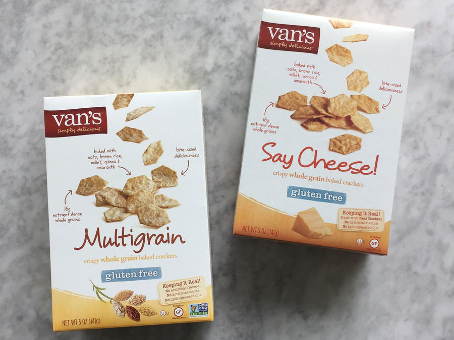 Van's Multigrain and Say Cheese! Crispy Whole Grain Baked Crackers
