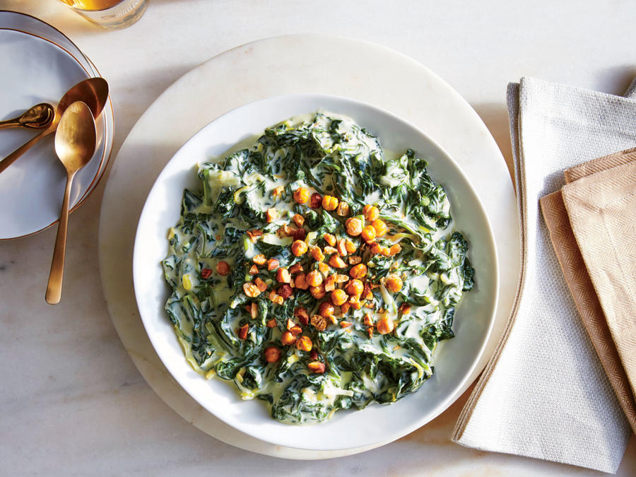 Creamed Winter Greens