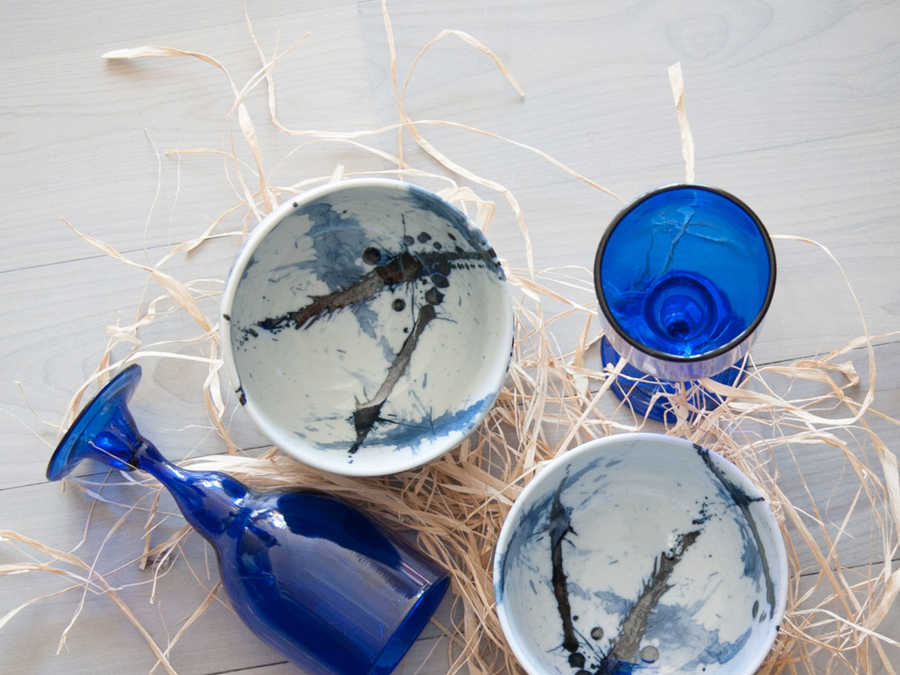 Nantucket Looms Ink Splash Bowls