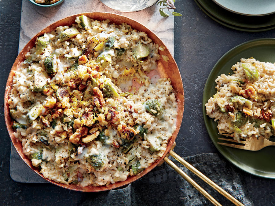 Shortcut Risotto with Brussels Sprouts