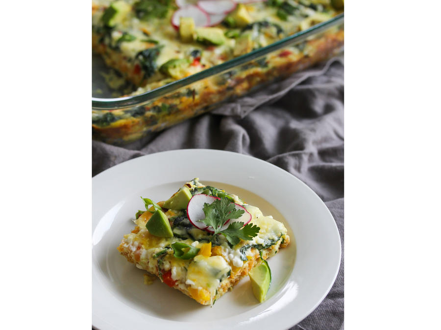 Sweet Potato Hash Breakfast Bake Slice