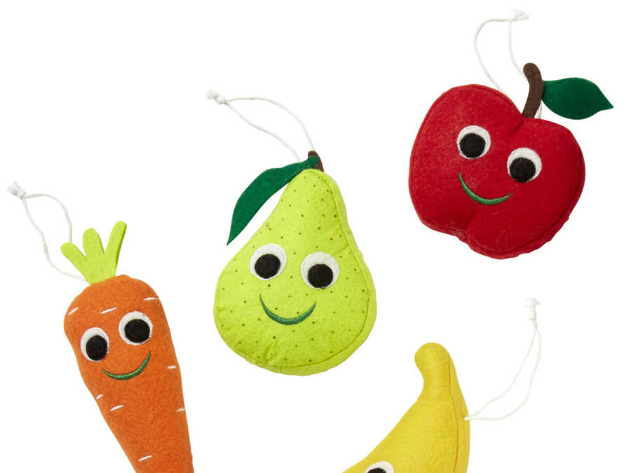 Target Fruit and Vegetables Ornament