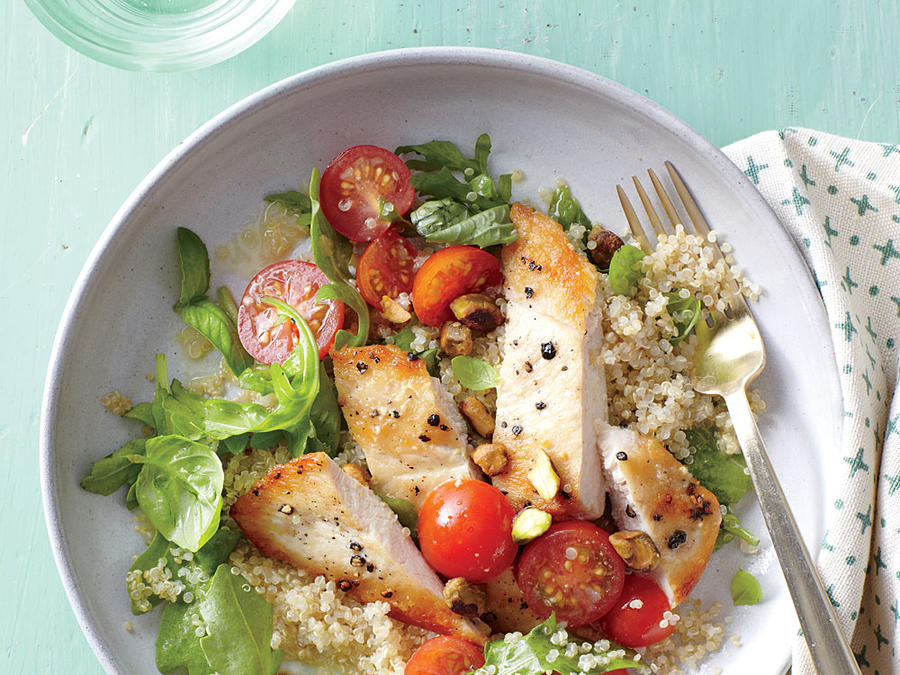 Chicken-Quinoa Salad with Arugula and Pistachios Weight-Loss Plan