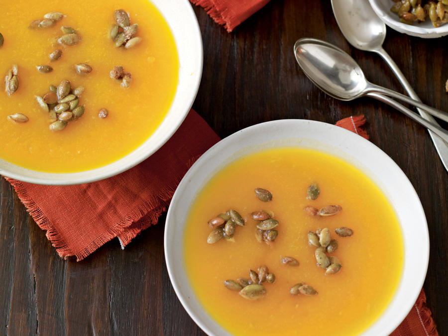 Butternut Squash Soup with Spiced Seeds