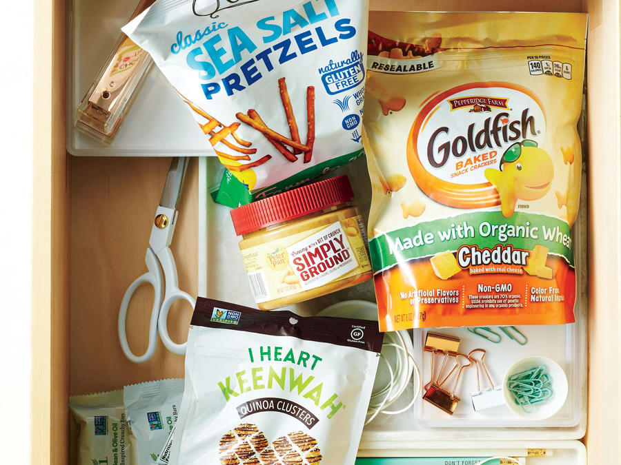 11. Rethink Your Desk Pantry