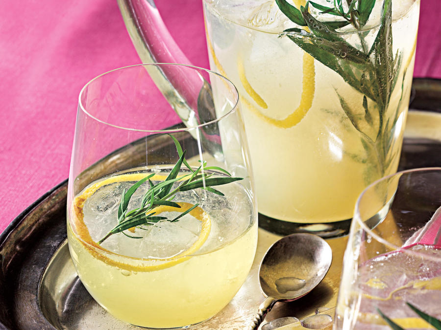Lemon-Gin Sparkling Cocktails