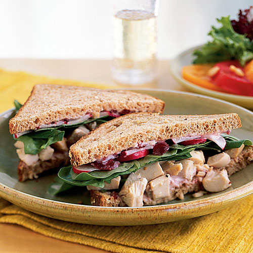 Roast Chicken and Cranberry Sandwiches