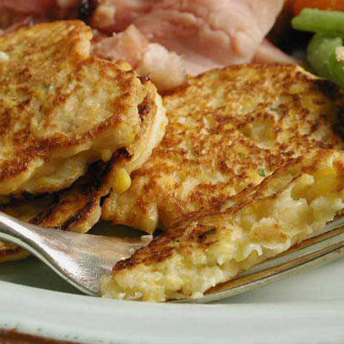 Easter Corn and Parsnip Cakes Recipe
