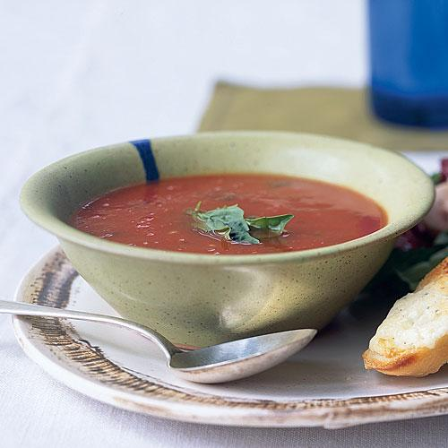 Healthy Tomato-Basil Soup Recipe