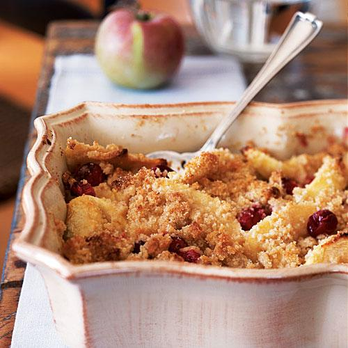 Cranberry and Apple Crumble Recipe