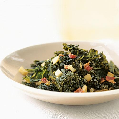 Braised Kale with Bacon and Cider Recipe