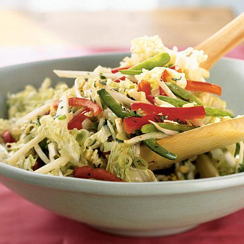 Winter's Best: Napa Cabbage and Snow Pea Slaw