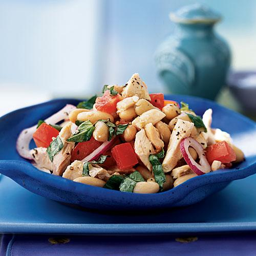 Healthy White Bean and Roasted Chicken Salad Recipes