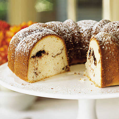 Sour Cream-Hazelnut Bundt Cake