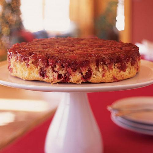 Upside-Down Cranberry-Ginger Cake