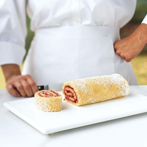 To make a jelly roll, you spread jams, jellies, frosting, or whipped cream onto a thin, flat cake, and roll it into a log.