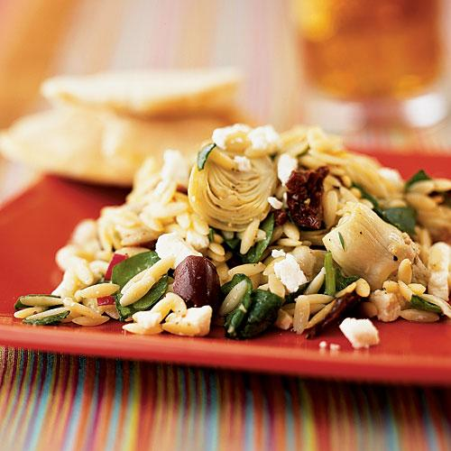 100 Pasta Recipes: Mediterranean Orzo Salad with Feta Vinaigrette