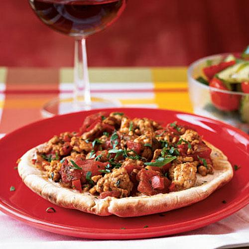 Turkish Turkey Pizza