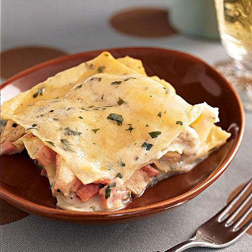 Chicken-Ham Lasagna Recipe