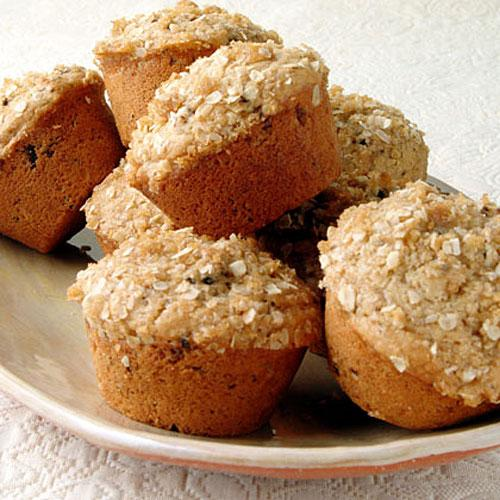 Healthy Muffin Recipes: Oatmeal Topped Fig Muffins