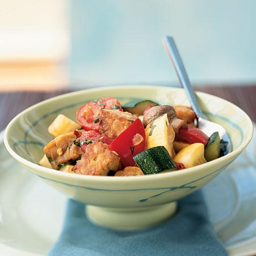 Tempeh Ratatouille Vegetarian Recipe