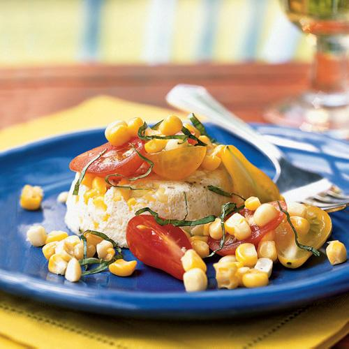 This dish adds elegance to corn's lovely sweetness.