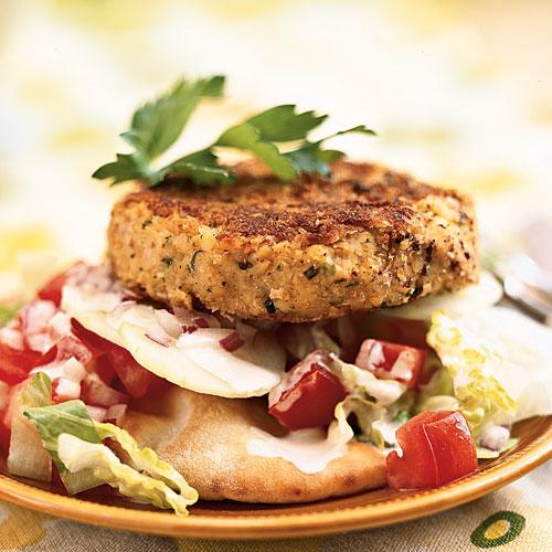 Open-Faced Falafel Burgers Recipes
