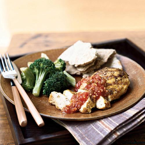 Indian-Spiced Chicken with Tomato Chutney